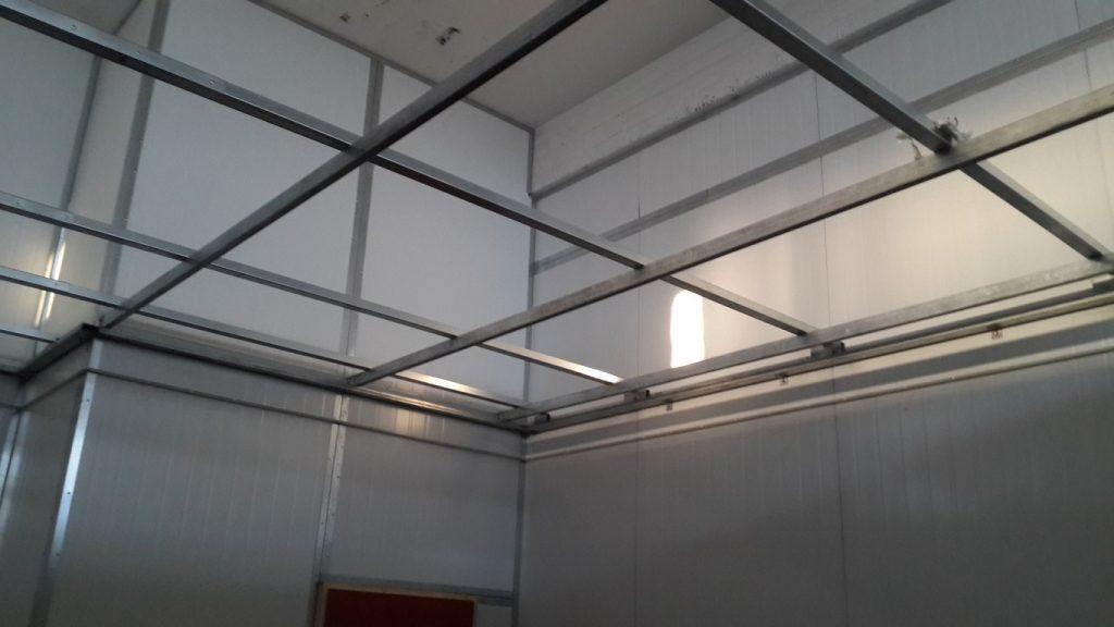 מחירון בנייה קלה בניית מסגרת הכנה לתקרה אקוסטית במפעל
