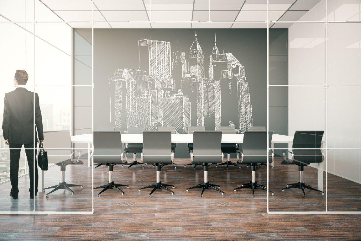 צביעת משרדים עיצוב חדר ישיבות